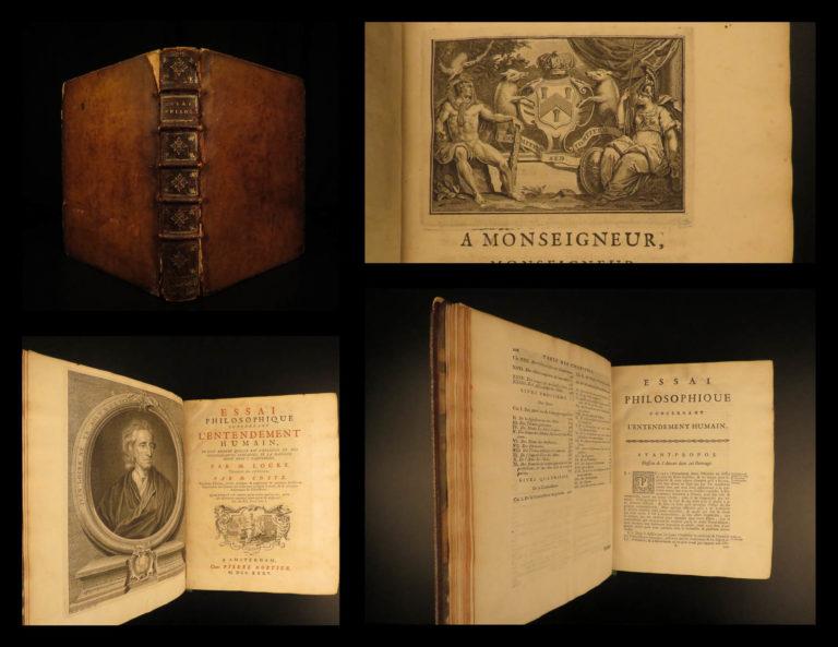 Image of 1735 John LOCKE Essay Concerning Human Understanding Philosophy Tabula Rasa