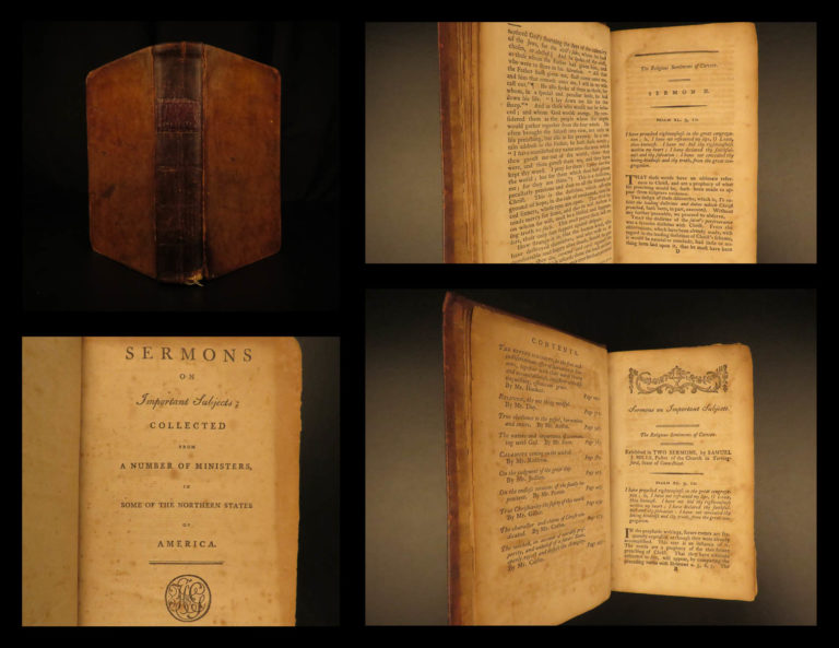 Image of 1797 EARLY American Bible Sermons Ephraim Judson Litchfield Connecticut RARE