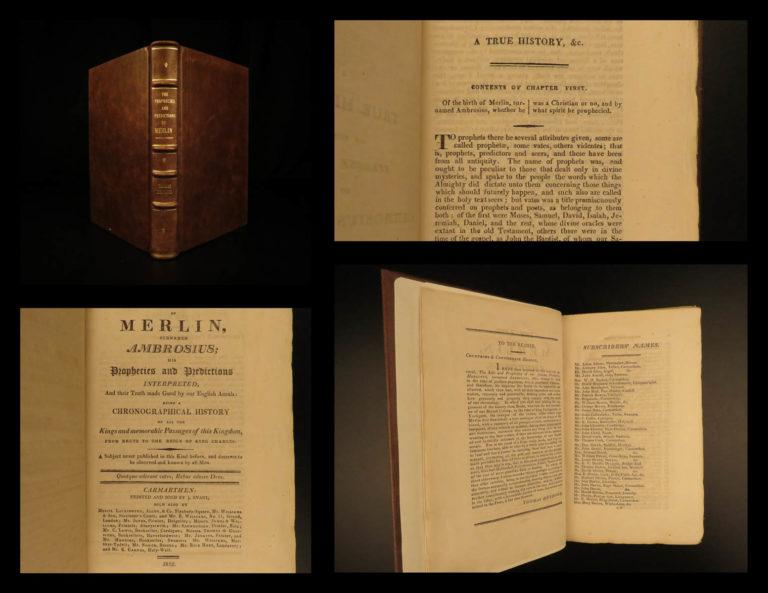 Image of 1812 Life of MERLIN Ambrosius King Arthur Prophecy Sorcery MAGIC Necromancy