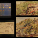 1907 Riviera Painted COLOR Illustrated MAP Monte Carlo Monaco Nice France