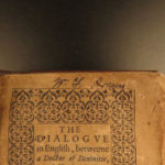 1607 LAW Doctor and Student by Christopher St Germain English Dialogues Divinity