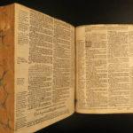 1594 Geneva English BIBLE Barker Old/New Testament Grashop Puritans & Pilgrims
