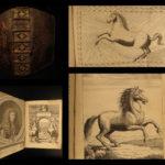 1693 Perfect HORSE Mareschal Solleysel Equestrian Medicine Cavalry Illustrated