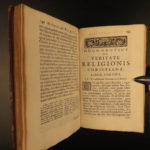 1696 Truth of Christianity Dutch Hugo Grotius Veritate Pennsylvania Provenance