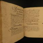 1660 INCREDIBLE Handwritten Manuscript Latin Philosophy Rhetoric Vellum Binding