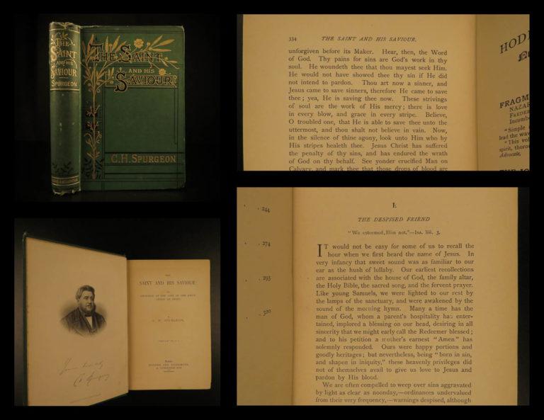 Image of 1889 Charles Spurgeon Saint & His Savior Puritan Baptist Bible Devotional