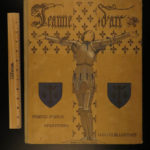 1929 Joan of Arc HUGE Brentano France Hundred Years War Color Illustrated French