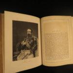 1873 1ed Portrait Gallery Illustrated Lincoln Grant Bronte Dickens Washington 2v