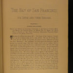 1892 1st ed Bay of San Francisco California Native American INDIANS Gold Rush