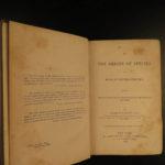 1869 Darwin Origin of Species American ed Evolution pre-Survival of the Fittest