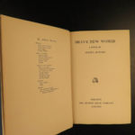 1932 1st Canada ed Brave New World Aldous Huxley Dystopian CLASSIC SciFi Novel