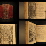 1656 EXQUISITE Imitation of Christ Thomas a Kempis Illustrated Corneille 2v SET