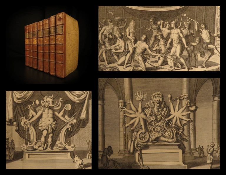 Image of 1781 1ed World Religions Jews Japan California Indian Rituals 7v Dutch Hurd