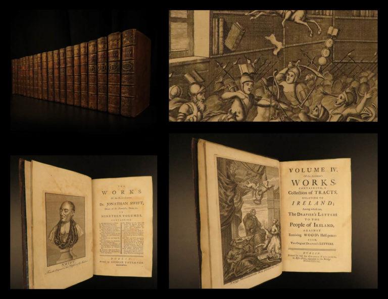 Image of 1737 1ed Works Jonathan Swift Gulliver's Travels English Literature 20v Irish ed