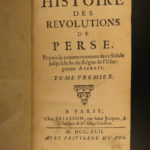 1742 History of PERSIA Revolutions Nader Shah Kouli Khan Iran MAP Middle East 2v
