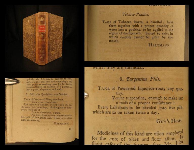 Image of 1791 1ed Pearson Medical Prescriptions Pharmacopeia Quicksilver Opium Tobacco