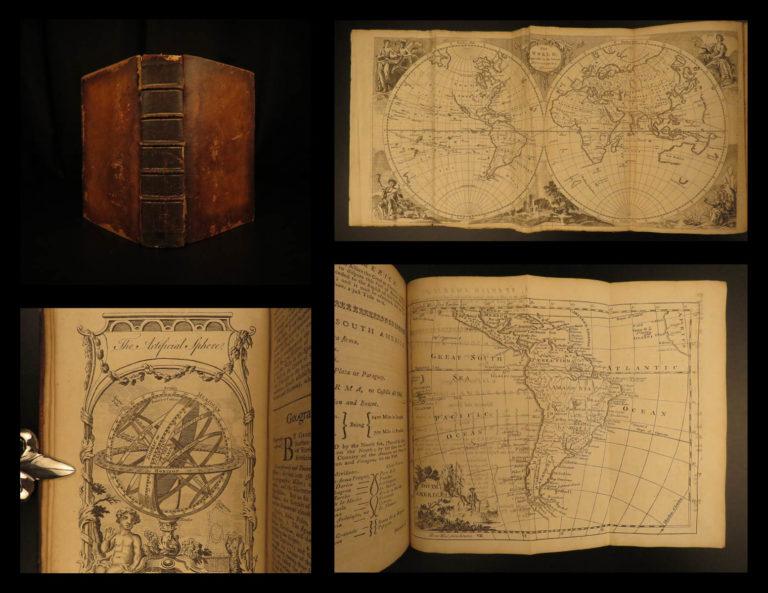 Image of 1766 ATLAS MAPS Geographical Grammar Thomas Salmon Europe China Colonial USA