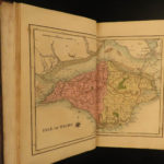 1813 Picture of Isle of Wight England Geography MAP Illustrated Landscapes Cooke