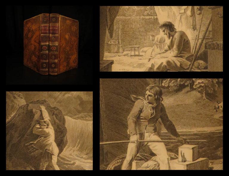 Image of 1790 Robinson Crusoe Defoe Voyages Shipwreck Stothard Illustrated English 2v SET