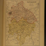 1884 1ed Staffordshire & Warwickshire Langford England History Shakespeare MAPS