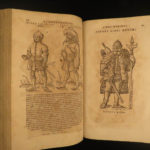 1600 Lazius De Gentium Illustrated KNIGHTS Celts Franks Lombards Voyages Travels