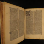 1495 Aristotle Organon + Giles of Rome Incunable Gloss Philosophy LOGIC Woodcuts