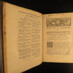 1689 Elements of Mathematics Algebra Descartes Euclid French 2v SET Jean Prestet