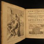 1676 1st ed Clarendon Survey of LEVIATHAN Thomas Hobbes Political Philosophy