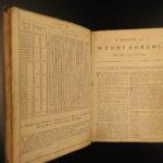 1752 WELSH Holy BIBLE Baskett Church of England Hyfforddiadau WALES Mission RARE