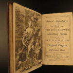 1692 ENGLISH John DRYDEN Miscellany Poems Virgil Ovid Horace Mythology 3v RARE