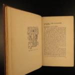 1913 Myths of Mexico & Peru Inca Mayan Quetzalcoatl Legend MAP Color Illustrated