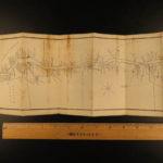 1834 HUGE MAP Niagara Falls Vandewater Tourist Hudson River Travel New York