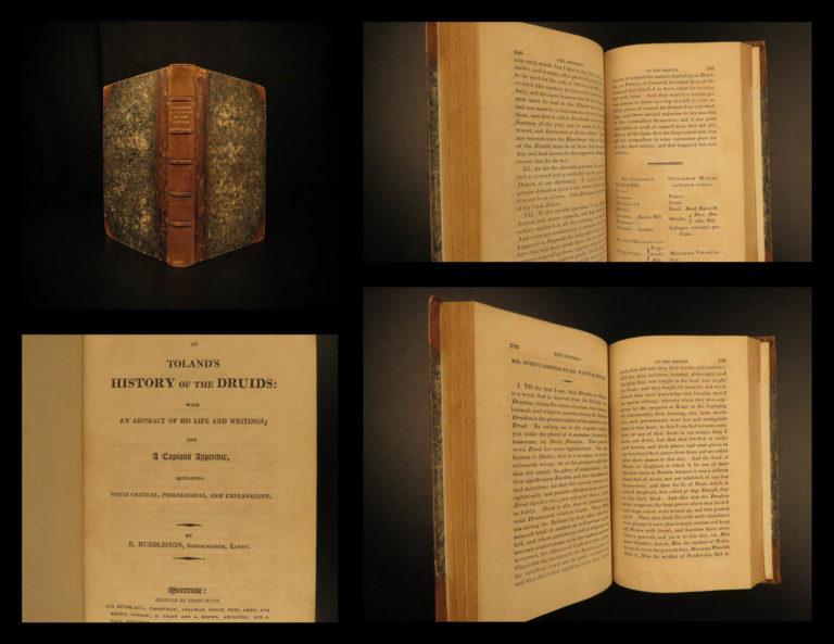 Image of 1814 1ed Irish DRUIDS Toland Ireland Celtic Occult Religion Language Huddleston