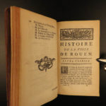 1775 History of ROUEN France Normandy Antoine Servin French Politics Travel 2v