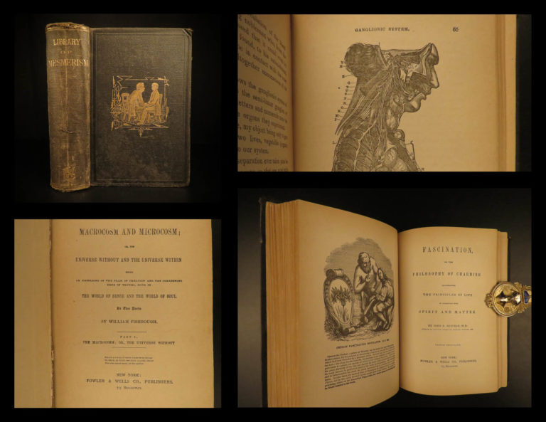 Image of 1875 Library of Mesmerism Hypnosis Psychology Mesmer CHARMS Medicine Occult