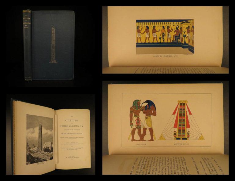 Image of 1880 1ed Obelisk & Freemasonry Weisse Egypt Hieroglyph Mummy Masonic Illustrated