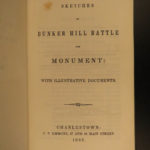 1843 1ed Sketches of Bunker Hill American Revolutionary WAR Letters MAP Monument