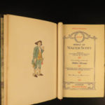 1891 EXQUISITE Walter Scott Works Waverly Novels Ivanhoe Poems Illustrated 33v