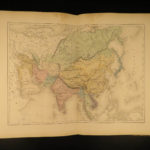 1861 Beautiful ATLAS Dufour & Rohrbacher Color MAPS Crusades America Asia China