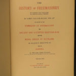 1898 1ed History of Freemasonry Scotland Mackey Masonic Crusades Illustrated