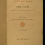 1896 ENORMOUS Army & Navy USA Military Battles War History Color Illustrated 2v