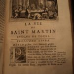 1699 1st ed Life of Saint Martin of Tours / Hungary Born Patron Saint of Soldiers / Extremely Rare Bio / None Found for Sale Worldwide